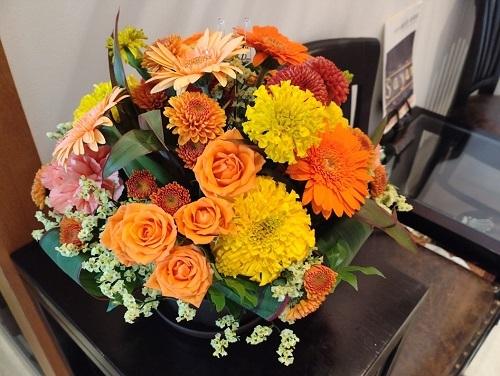 練馬区、中村橋・富士見台、サヤン鍼灸院・接骨院ブログ、ハロウィンの花束