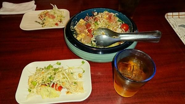 練馬区、中村橋・富士見台、サヤン鍼灸院・接骨院ブログ、割烹常、海鮮サラダ
